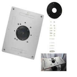 Useful Aluminum Router Table Insert Plate Set For Woodworking Engraving Benches