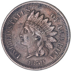 1859 Indian Head Cent Extra Fine Penny See Pics J271