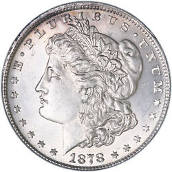 1878 Morgan Silver Dollar 7 Tail Feathers Reverse Of 79 Bu See Pics J382