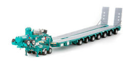 Drake For Drake 2x8 Dolly+7x8 Steerable Low Board Trailer Toll Truck 1/50 Model