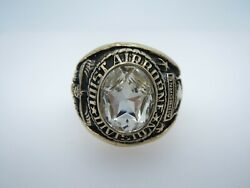 @real Solid 10k Gold Paratroopers 101st Airborne Division Ring Size 9
