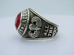 @ Silver 925 , 82nd Airborne Ring , America's Guard Honor , Army Ring, Size 10