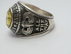 @ Silver 925 , 82nd Airborne Ring , America's Guard Honor , Army Ring,size 12.75