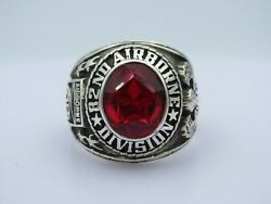 @ Silver 925 , 82nd Airborne Ring , America's Guard Honor , Army Ring, Size 11.5