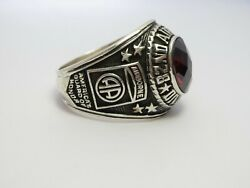@ Silver 925 , 82nd Airborne Ring , Americas Guard , Army Ring , Us Size 13.5