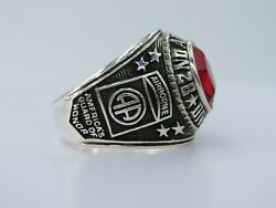 @ Silver 925 , 82nd Airborne Ring , America's Guard Honor , Army Ring,size 10.75