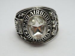 @ Silver 925 , 82nd Airborne Ring , America's Guard Honor , Army Ring,size 9