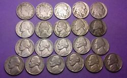 Usa Liberty Buffalo And Early Jefferson Nickel Coins 1901-1959 - Inc Silver