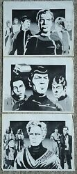 Star Trek Limited Edition Portfolio 1976 403 And 404 Of 500 3 Plates 11x14 Signed