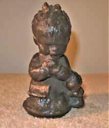 Antique Industrial Metal Rubber Toy Mold - Praying