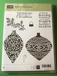 Stampin Up Embellished Ornaments….. New……..7 Pc Stamp Set Retired Christmas