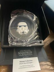 Niue 2020 Star Wars Stormtrooper 2 Oz Colored Helmet 5 Silver Coin 250 Made