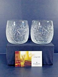 Waterford Crystal Seahorse Double Old Fashioned Glass Set Of Two