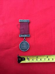 Vintage Ww1 1915 Silver Medal And Ribbon With Silver Brooch Bar