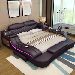 Smart Electric Big Double Leather Bed Modern Widened Master Luxury Bedrooms