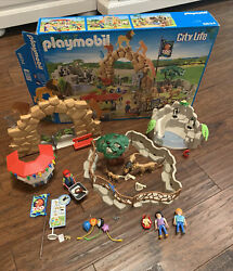 PLAYMOBIL Set 6634 City Life Zoo Mostly Complete Missing Some Parts