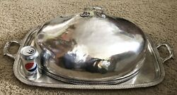 Reed And Barton Palmer House Silverplate Lg Entree Cloche Andserv Tray Chicago Hotel