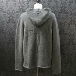 Chrome Hearts Chromehearts Cashmere Ch Cross Embroidery Knit Hoodie Food Patch