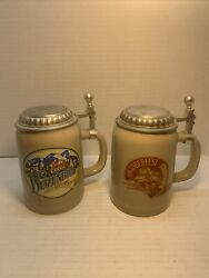 Lot 2 Coors Beer Stein Mugs Seasonal Classics Special Edition 146 151