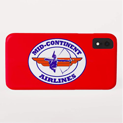 Phone Case Iphone And Galaxy Barely There Braniff Mid-continent Airlines Cross A