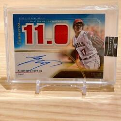 Limited To 10 Sheets Shohei Ohtani Autograph Relic Actual Jersey Serial