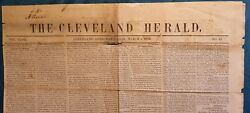 Rare Cleveland Herald, March 4, 1846, Full Edition