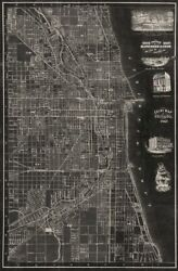 Image-art-print-antique-map-of-chicago-blanchard-32x50in-print-on-paper-canvas-