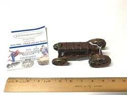 Late 1800's Antique Early Hubley Cast Iron Farm Tractor Toy Complete