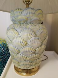 20th Century Porcelain Shell Lamp By Mottahedeh