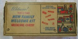 Rare Vintage 11/1969 New Family Welcome Kit Medicine Chest Cardboard Box
