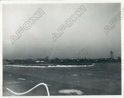 1933 Ford Motor Company Early Morning Scene Ford Airport Michigan Press Photo