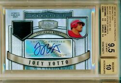 2007 Bowman Sterling Refractor Joey Votto Rc Jersey Auto Bgs 9.5 Auto 10