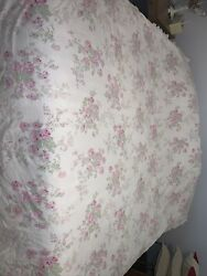 Simply Shabby Chic Floral Essex Pink Stripe Duvet Cover Queen French Farmhouse