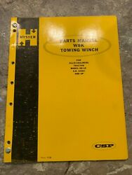Hyster W8k Towing Winch Parts Manual Allis-chalmers Tractor Model Hd-16 Etc