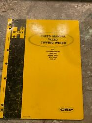 Hyster W8k Towing Winch Parts Manual Allis-chalmers Tractor Model Hd-21 Etc