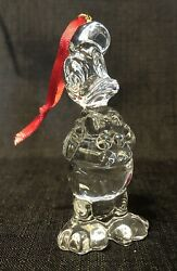 Disney Arribas Brothers Crystal Glass Figurine Holiday Ornament - Donald Duck