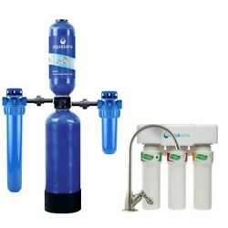 Whole House Water Filtration System 4-stage 300000 Gal. Indoor Installation Kit