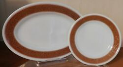 Rare Pyrex Tableware By Corning Plates Bronze 793-11 And 711-21 Set Of 22 Durable