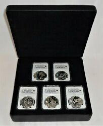 2010 Vancouver Olympics 5pc Commemorative Coin Collection Ngc Pr69 Ultra Cameo