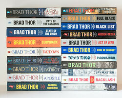 Lot Of 20 1-20 Scot Harvath Complete Series Set Paperback Books By Brad Thor