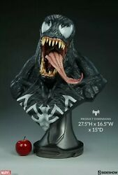 11 Sideshow Collectibles Marvel Spiderman Venom Life Size Bust Statue