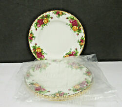 4 Lot Old Country Roses By Royal Albert China Ltd Indonesia 8 Salad Plate New