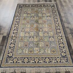 5and039x8and039 Handknotted Silk Area Rug Home Interior Luxury Indoor Carpets 639b