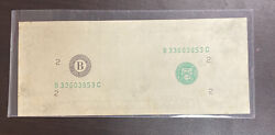 20 Federal Reserve Note - Missing 2nd Face Print Error - Frn -rare-