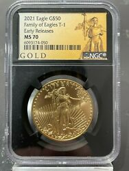 2021 50 Gold American Eagle Type 1 Ngc Er Ms 70 Retro Core 50 Known