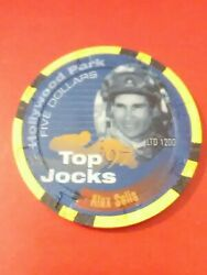 1997 Hollywood Park Casino Ca. 5.00 Alex Solis Chip Great For Any Collection