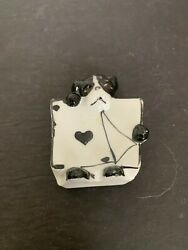 Antique Art Deco Dog Playing Card Ring Ceramic Tray Made In Japan