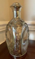 """Antique Haigs Scotch Whiskey Bottle. 9""""h X 5""""w. Beautiful Decanter."""