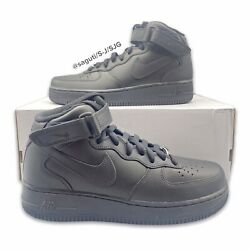 Nike Air Force 1 Mid '07 Triple Black Af1 Men's Size 10 New Casual Cw2289-001