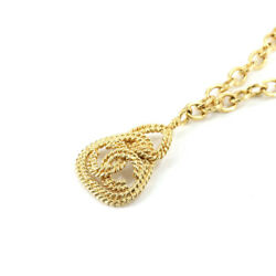Coco Mark Long Necklace Triangle Gold 93a Vintage Accessory 1336